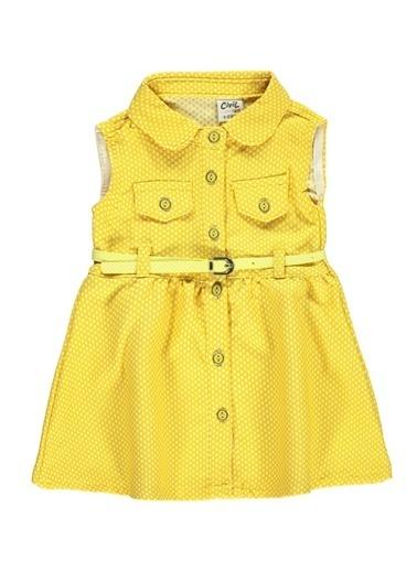Civil Baby Civil Baby Kiz Bebek Elbise 6-18 Ay Sari Civil Baby Kiz Bebek Elbise 6-18 Ay Sari Sarı